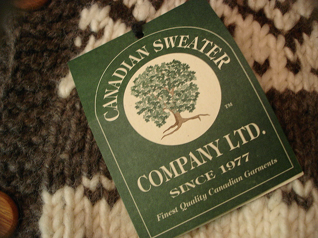 NEW : CANADIAN SWEATER COMPANY [Cowichan Sweater] !!_a0132147_2347455.jpg