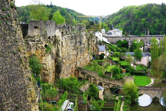 ルクセンブルクの旅 (5) ボックの断崖(要塞)とその眺望_c0011649_0185293.jpg