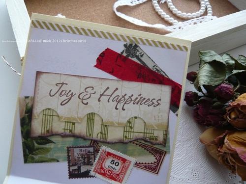 いただきもの*LEAF&LeaFさんからのクリスマスカード_d0285885_1017489.jpg