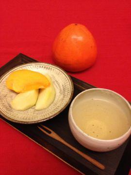 ごぼう茶と富士柿_e0134337_19392981.jpg
