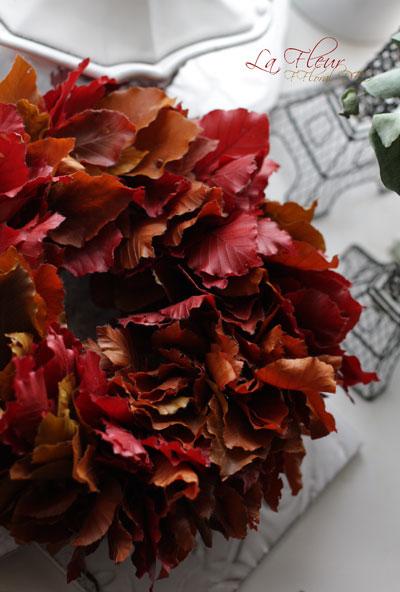 秋色のリース_f0127281_2312478.jpg