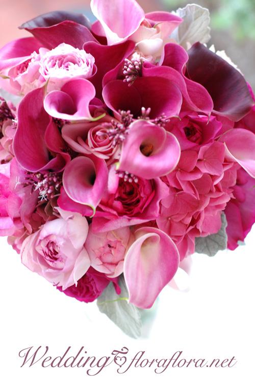 ワインレッドとピンクのカラーのクラッチブーケ オールドローズ添え to フォーシーズンズホテル椿山荘様_a0115684_234205.jpg