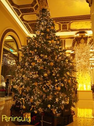 Peninsula Hotelのクリスマスツリー_d0088196_952277.jpg