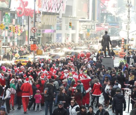ニューヨークのサンタコンに地図初登場 SantaCon 2012_b0007805_10551249.jpg