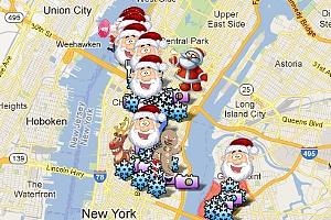 ニューヨークのサンタコンに地図初登場 SantaCon 2012_b0007805_10553446.jpg
