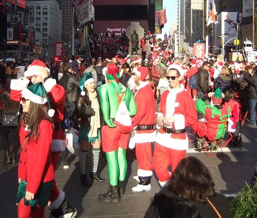ニューヨークのサンタコンに地図初登場 SantaCon 2012_b0007805_10563078.jpg