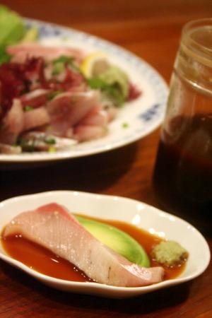 生搾り醤油でぶりの刺身 & 照り焼き _f0141419_6343871.jpg
