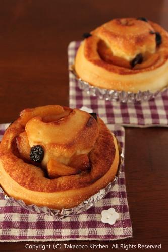 りんごとシナモンレーズンのパン!_a0165538_9315464.jpg