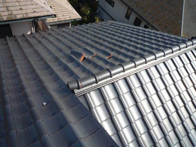 屋根の葺き替えとPanasonic太陽光発電設置(多摩市)_e0207151_17103261.jpg