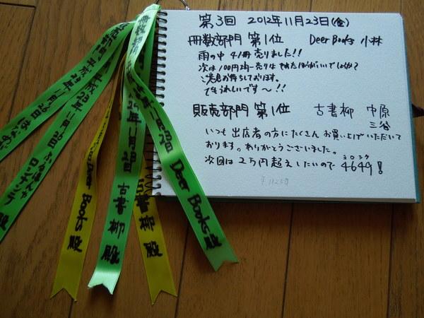 天神さんで一箱古本市 トロフィーノート_a0236063_2341264.jpg