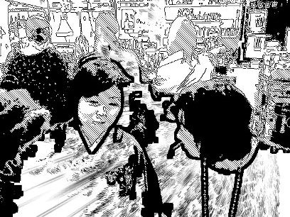 iパッド・miniで劇画調に撮ってもらった穂湖さんとのツーショット_a0075802_233616.jpg
