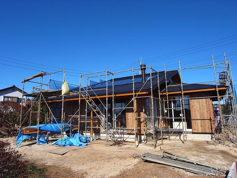 中台の家Ⅱ 外装工事-2 2012/12/19_a0039934_17385659.jpg