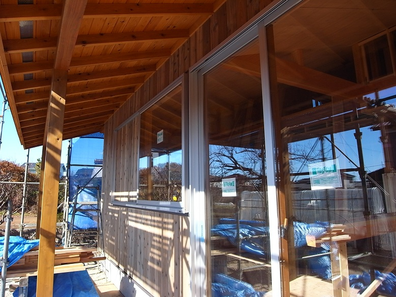 中台の家Ⅱ 外装工事-2 2012/12/19_a0039934_17442759.jpg