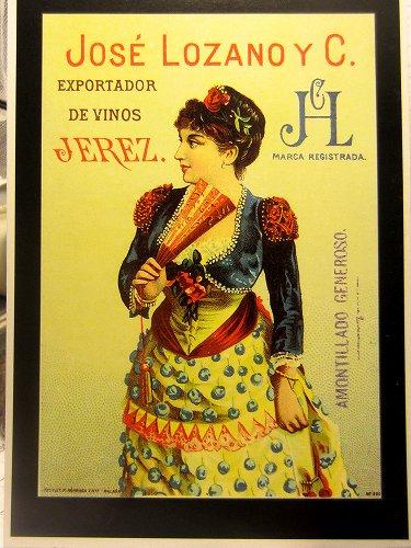 シェリー酒広告ポスターのポストカード14種 _f0112550_4103670.jpg