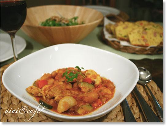 豆とチキンのトマト煮_a0056451_14101467.jpg