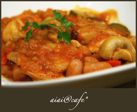 豆とチキンのトマト煮_a0056451_1410927.jpg