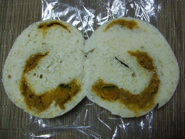 カリンベーグル シナモンかぼちゃチーズケーキ風_f0076001_2321855.jpg