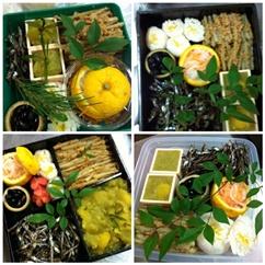 マレエモンテおせち料理教室2日目 一の重は6種類を詰める。_b0048834_21265639.jpg