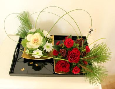 今月のNHKの花はお正月アレンジ_f0185066_22562477.jpg