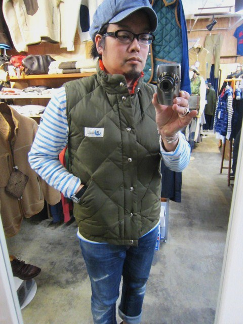 Crescent Down Works ・・・ 完全別注! HOODED QUILT DOWN JACKET!!_d0152280_20434897.jpg