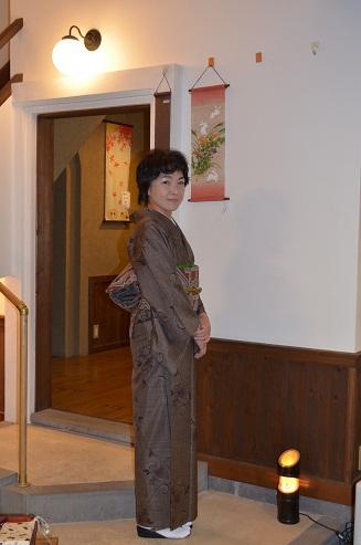 大島にオシャレ袋帯を締めて_d0230676_14104954.jpg