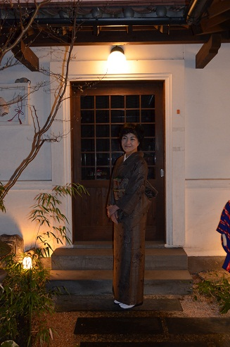 大島にオシャレ袋帯を締めて_d0230676_1411205.jpg