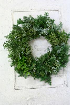 一会定期レッスン12月クリスマスリース モミの部_a0042928_17473224.jpg