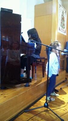私が風邪で声が出なくなり、手笛 久米小百合さんのクリスマスコンサート礼拝 : JECA 柿生キリ