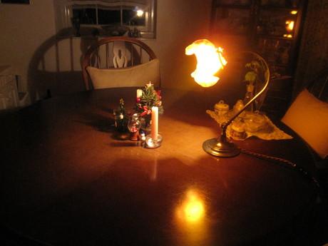 クリスマスイブの食卓風景_a0279743_1122287.jpg