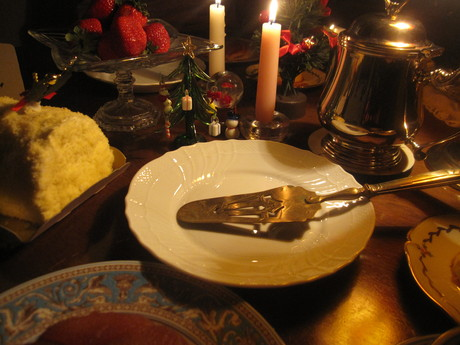 クリスマスイブの食卓風景_a0279743_11254529.jpg