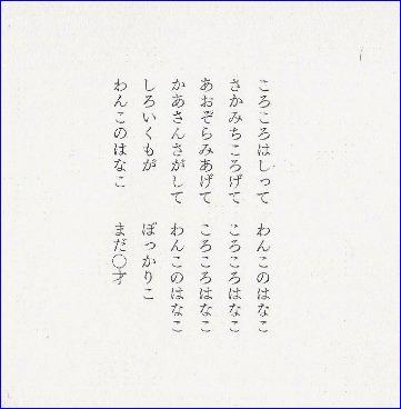 『 2013年 卓上 カレンダー 「わんこのはなこまだ0才」 』_f0159856_841515.jpg
