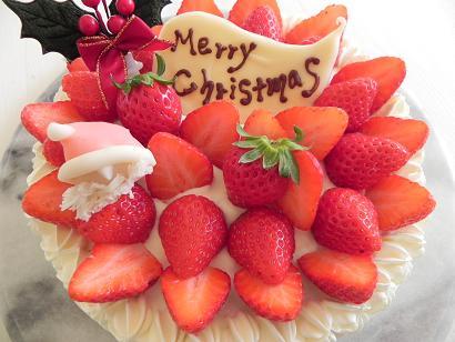 まめはなクリスマスケーキ_c0227958_22325264.jpg