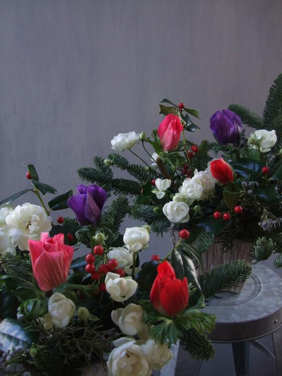 オークリーフ(クリスマスアレンジメント)_f0049672_13262061.jpg