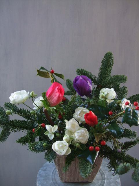 オークリーフ(クリスマスアレンジメント)_f0049672_13265564.jpg