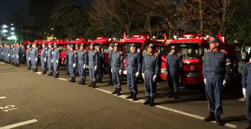 消防団年末特別警戒出発_f0059673_23225211.jpg
