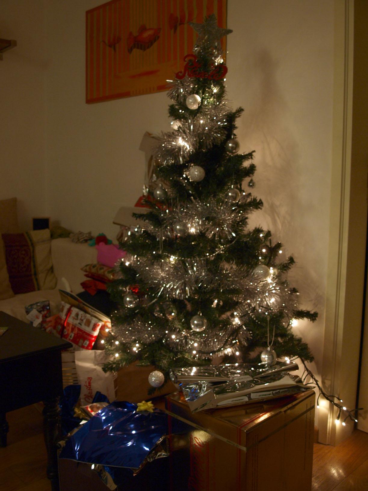 クリスマスイブの夜★ツリー前はプレゼントで一杯!!_c0179785_6465466.jpg