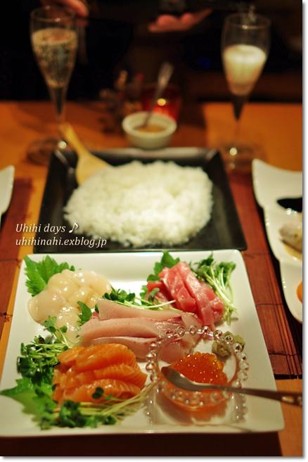 手巻き寿司でクリスマス_f0179404_21111494.jpg