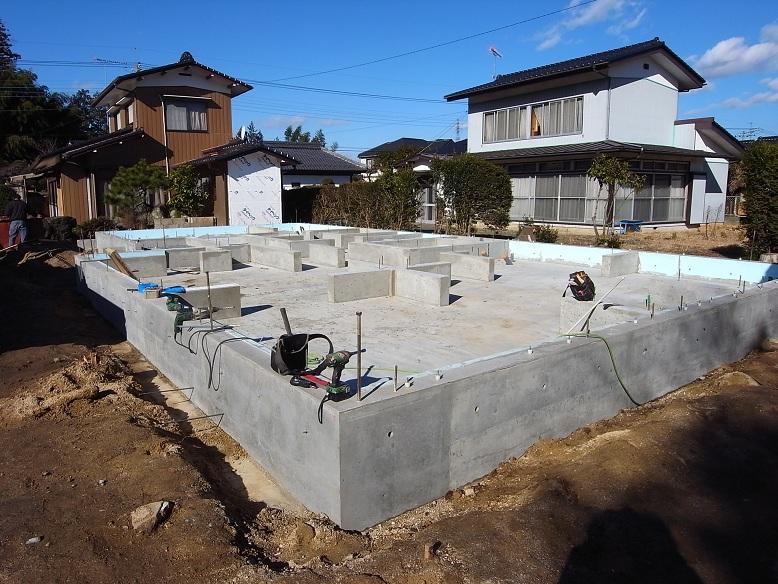 石岡の家 基礎工事完了 2012/12/26_a0039934_17384910.jpg