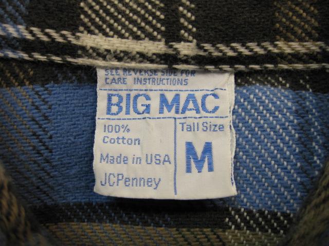 BIG MAC フランネルシャツ_b0114845_17491976.jpg