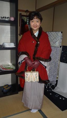 野田淳子さん・素敵な色無地のイブの着姿。_f0181251_17475131.jpg