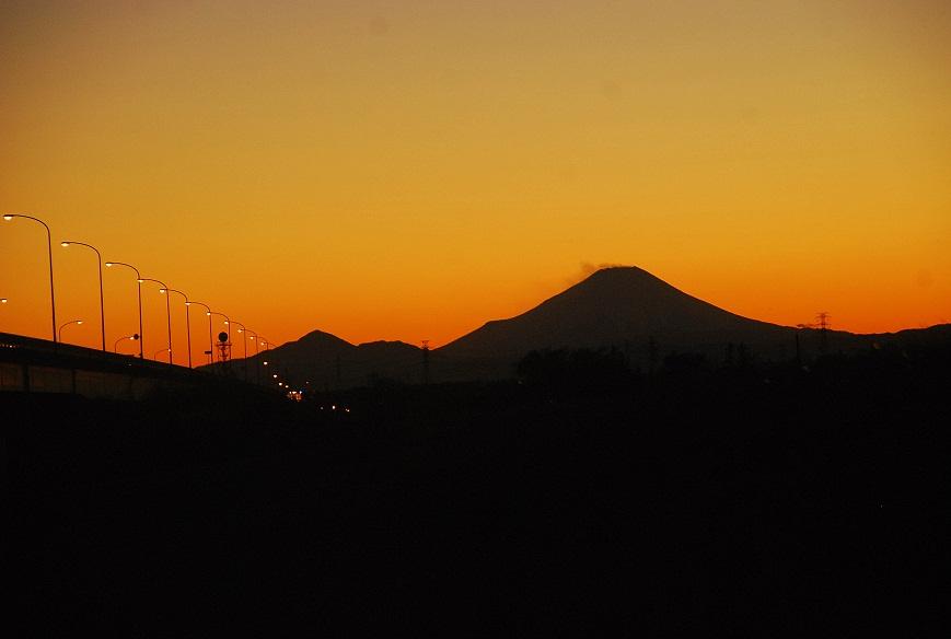 夕茜に富士山_c0187781_1611639.jpg
