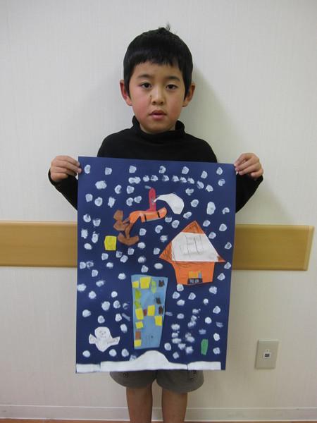 城陽教室 ~クリスマス会&水彩画「雪降る街」~_f0215199_1753452.jpg