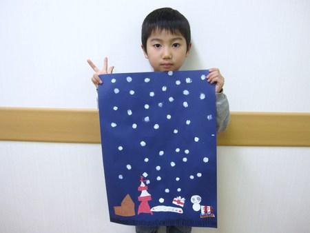 城陽教室 ~クリスマス会&水彩画「雪降る街」~_f0215199_1757693.jpg