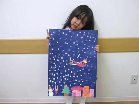 城陽教室 ~クリスマス会&水彩画「雪降る街」~_f0215199_17583321.jpg