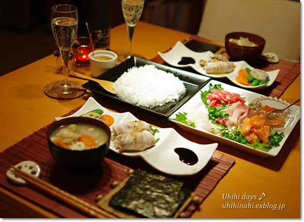 手巻き寿司でクリスマス_f0179404_6521738.jpg