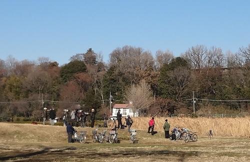 野川のバードウオッチャー(武蔵野公園、野鳥、アオサギ、カワセミ、コサギ、カルガモ)_e0223735_1159413.jpg