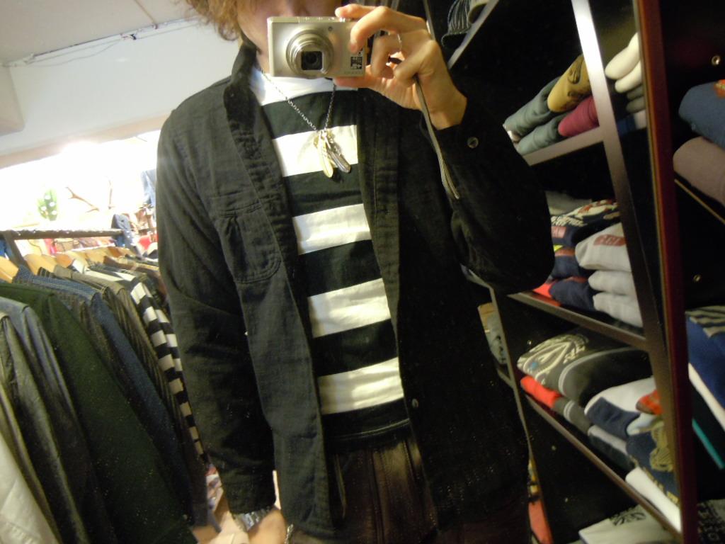 DAPPER\'S  Wガーゼ ショールカラーシャツ_b0278148_13151798.jpg