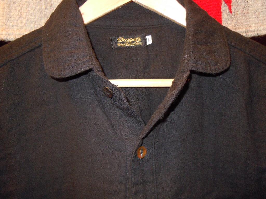 DAPPER\'S  Wガーゼ ショールカラーシャツ_b0278148_13242011.jpg