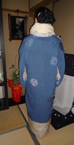 青森からのお客様のイブのお洒落な着物姿。_f0181251_17121012.jpg