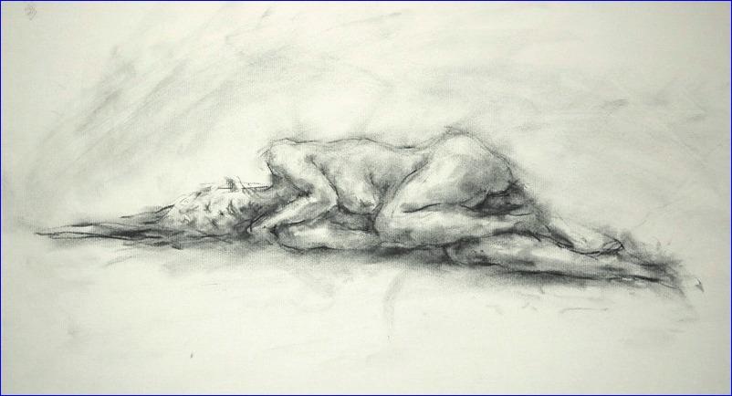 《 横たわる裸婦 ・・・ 素描 》_f0159856_2055124.jpg